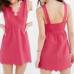 UO Cooperative Pink Scalloped Hem Mini Dress Small